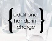 Additional handprint charge for Custom Handprint listings