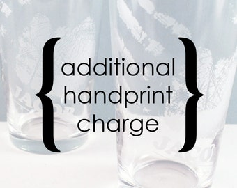 Additional handprint charge for Custom Handprint listings