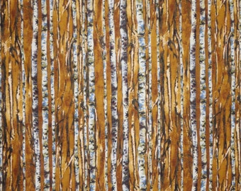 REMNANT--Brown and Gray Tree Bark Print Pure Cotton Fabric--1.75 Yards