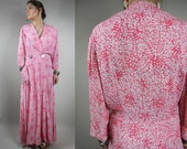 RESERVED for Julianne: Vintage 1930s Long Wrap Dress / Vintage 30s Wrap Dress / 30s Vintage Loungewear / Vintage 30s Dress / Vintage 1930s D