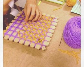 Butterfly Loom kit, Telar Mariposa