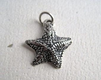 Star Fish Sterling Silver Nautical Charm Pendant
