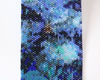 Seed Bead PATTERN Peyote Stitch for Winter Pines