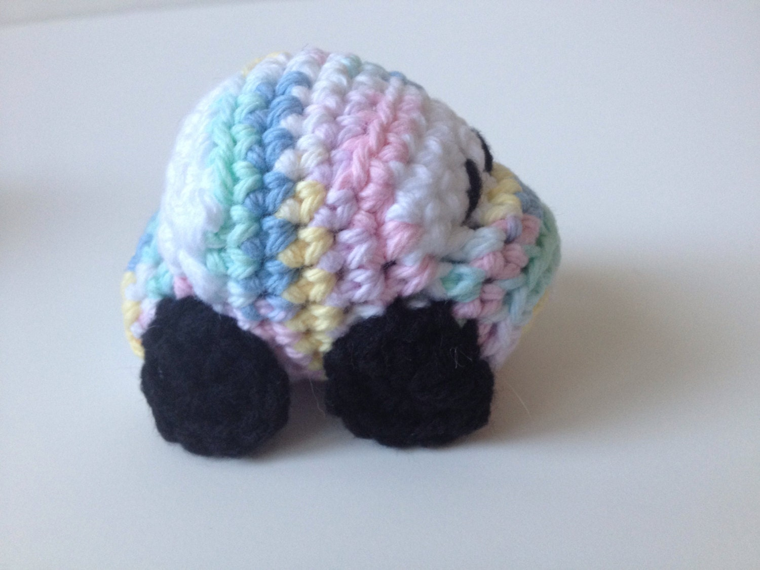Pink Blue Yellow Green Crochet Race Car Amigurumi VW Bug