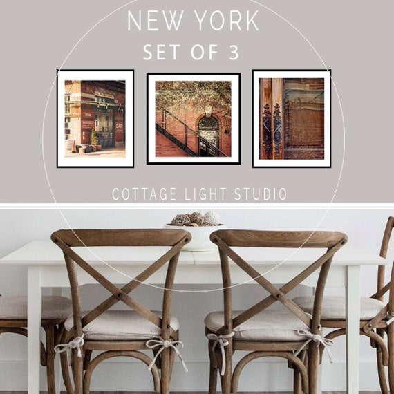 Art, New York Photography, 3 piece set, Art Prints, New York City, Spring in New York, Wall Decor, Wall Set, Two 11x14 s, One 12x12