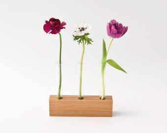 Wooden Bud Vase Flower Stand Flower Arrangement Wedding Centerpiece LITTLE VIOLET Limited Edition