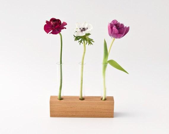Wooden Bud Vase Flower Stand Flower Arrangement Wedding Centerpiece LITTLE VIOLET Limited Edition