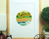 LOMO Shooter No.1 // Abstract Art Print, Modern Landscape, Fine Art Poster, Colorful Art Print, Digital Print, Giclee, Wall Art
