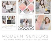 INSTANT DOWNLOAD  Modern Seniors vol 3 Blog, Facebook and Instagram ready Templates