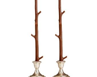 Vela del palo de arce / madreselva marrón / par