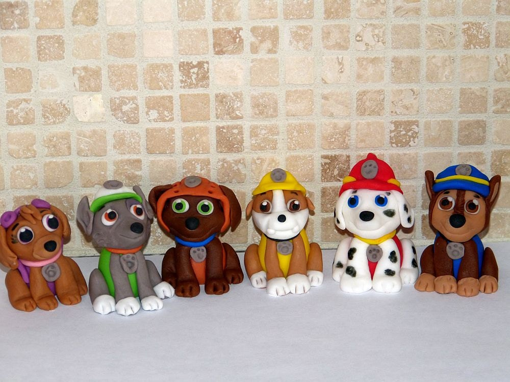 Items similar to Paw Patrol inspired Cupcake/Cake Toppers ...