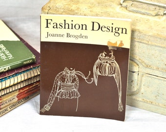 Fashion Design Book Vintage 1970's Haute Couture, Styles, Concept InstructionTextbook for Fashion Designing Retro Sewing Seamstress Supply