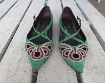 Missoni Ostrich Leather Flats