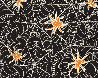 Caught in a Web Spooktacular Too Blend Fabrics Halloween Fabric Spider Web Fabric One Yard