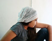 PDF PATTERN Knitted Slouchy Beanie Summer Hat
