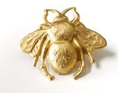 Bee Pin, Bumblebee Jewelry, Gold Bumblebee Pin