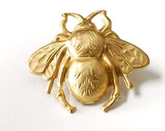 Bee Pin, Bumblebee Jewelry, Gold Bumblebee Pin