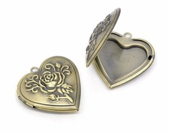 1pc Scent Locket Trends for 2016 diffuser necklace Antique Bronze Heart locket solid Perfume Locket aromatherapy pendant 708x