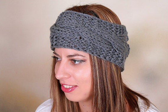 Knitted Headband Chunky Headband Ear Warmer Cabled by ...