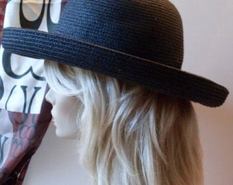 Jackie O Black Couture Hat BetMar New York  LJO Collection   We Ship Internationally