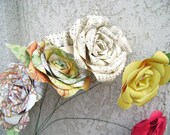 stems added to any 12 of my paper flowers listed without them