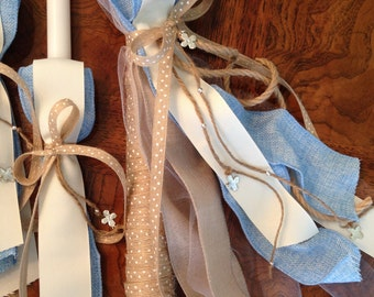 Rustic Modern Baby Boy Lambathes Set for Greek Orthodox Baptism-Made to Order