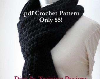 Crochet Pattern: The Simple Series Traditional Scarf (Instant Download)
