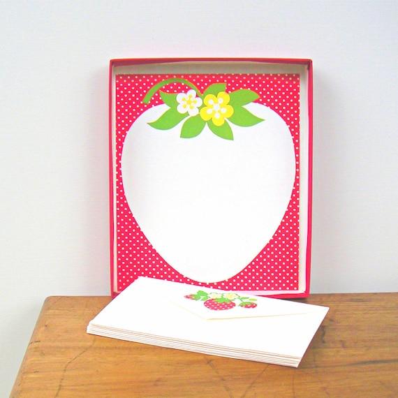 Vintage Strawberry Stationery Set Hallmark