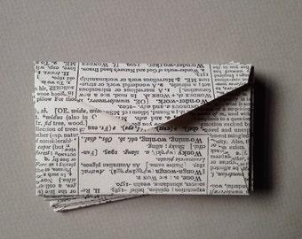 "100 Mini Dictionary Envelopes - Size 2 1/4"" x 3 1/2"""