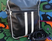 Shoulder bag - messenger bag - Retro bag - Black bag