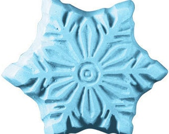 SNOWFLAKE Handmade Soap Novelty Bar U Pick Color & Scent