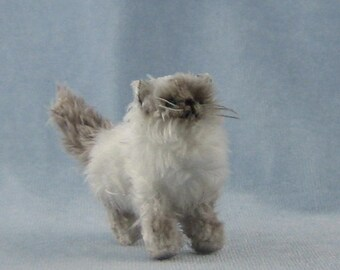 Himalayan Cat Soft Sculpture Miniature by Marie W. Evans
