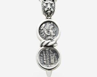 Sterling Silver Alexander & Lion Pendant
