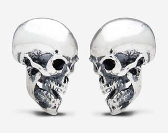 Sterling Silver Sided Skull Cufflinks