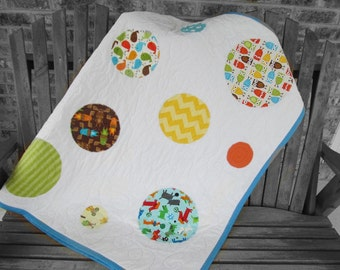 Baby Quilt, Toddler Quilt, Animals, Crib Quilt, Baby Bedding, Toddler Bedding, Boy or Girl, Blanket, Your Choice of Colors, Fabrics