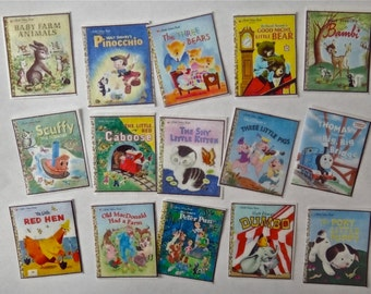 16 Vintage Disney Little Golden Books Children's Book Covers edible image wafer papers for your cookies, cakes, chocolates and cupcakes