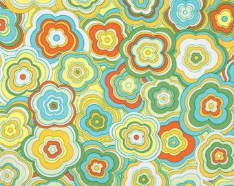 LOVELORN - Jenean Morrison - Modern Floral in Yellow  PWJM103 - Free Spirit Fabric - 1 Yard