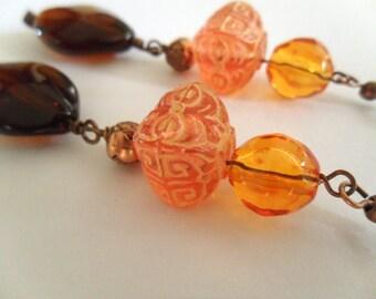 Bollywood Dangle Earrings// lightweight earrings// fall earrings