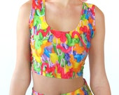 Rainbow Frosting Crop Top