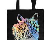 Holographic Mutant Kitty Tote Bag