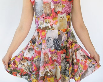 Kitty Garden Party Fit and Flare Dress