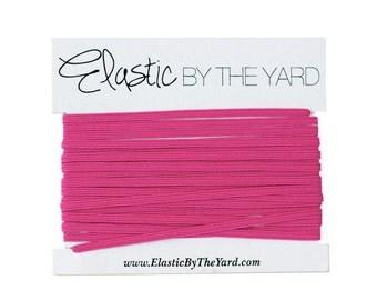 HOT PINK Skinny Elastic for Baby Headbands 1/8 inch - 5 yards