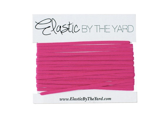 HOT PINK Skinny Elastic for Baby Headbands 1/8 inch - 5 yards