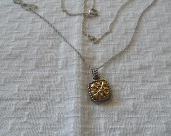 Vintage 10K Gold Sterling Silver Necklace