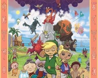 Legend of Zelda: The Wind Waker Tribute giclee print