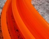 UV OrAnGe Colored Polypro Hula Hoop // Neon DayGlow, BlackLight Reactive // Custom Tubing, Diameter & Grip Options!