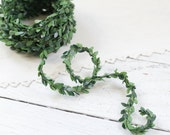 Boxwood Wired Cord - 15 Feet, Faux Leaves Greenery Mini Topiary Garland