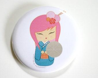 Momoko chan Button - Signature Hana chan dolls (kokeshi doll designs)