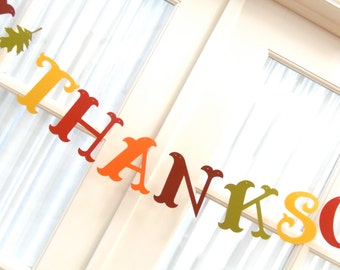 Happy Thanksgiving Banner.  5280 Bliss.  Hostess Gift.  Holidays.  Autumn.  Family.  Friends.  Party.