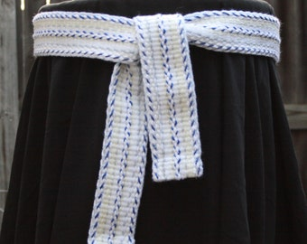 Winter - Handwoven Inkle Sash
